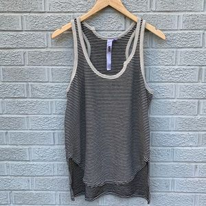 Wilt Asymmetrical Shirttail Striped Tank Top